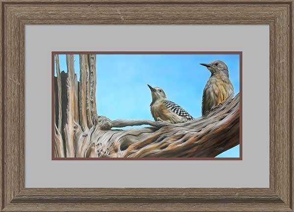High Noon&mdash;gila Woodpeckers Framed Limited Edition Print<Br/>21.5H X 29W Art Collection