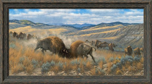 High Plains Battle—Bison.