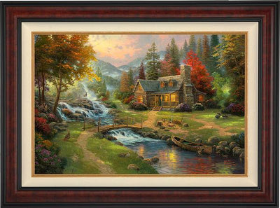 <I>Mountain Paradise</i> Framed Limited Edition Canvas (Sn)<Br/>40H X 54W Art Collection