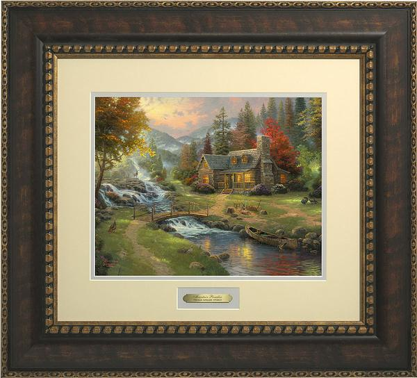 <I>Mountain Paradise</i> Prestige Framed Print<Br/>23H X 25.5W Art Collection