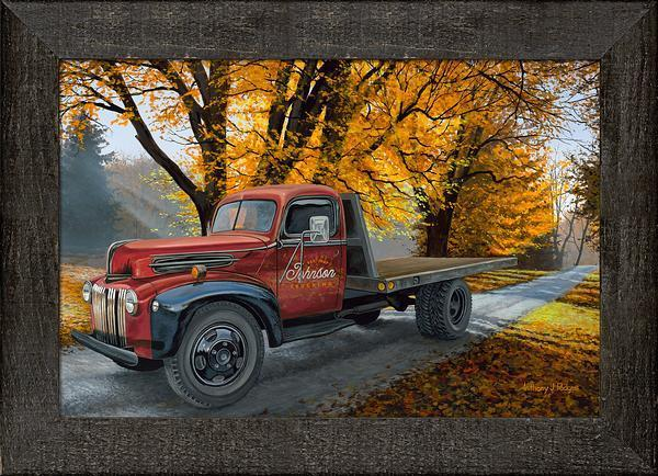 Seasoned Hauler Personalized Framed Canvas