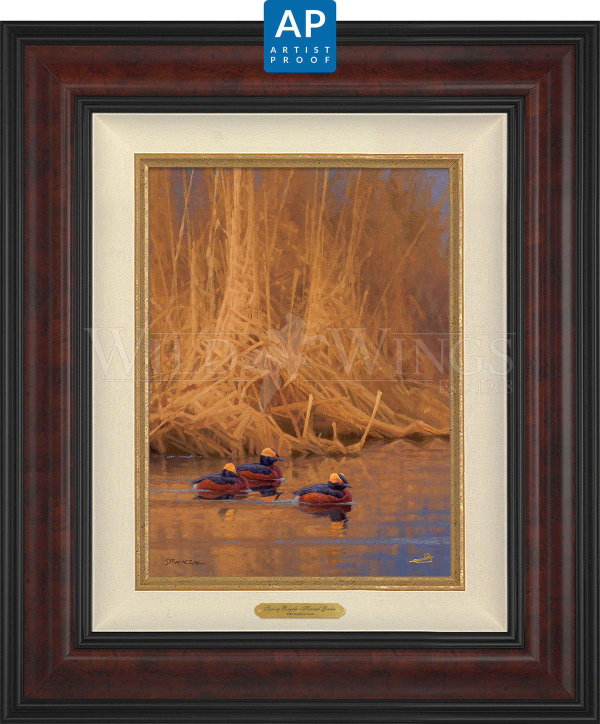 Spring Royals—Horned Grebes - Master Artisan Collection — Artist Proof Edition (AP).