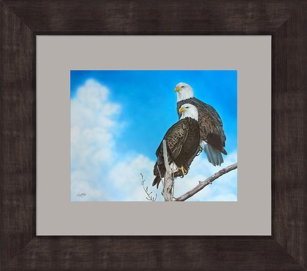 Surveillance Branch&mdash;bald Eagles Framed Limited Edition Print<Br/>22.75H X 25.75W Art