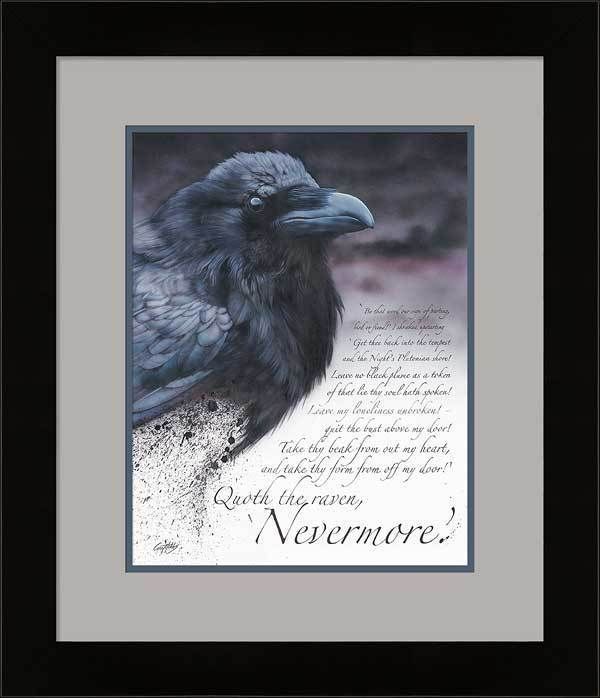 The Raven Framed Limited Edition Print<Br/>25H X 21.5W Art Collection