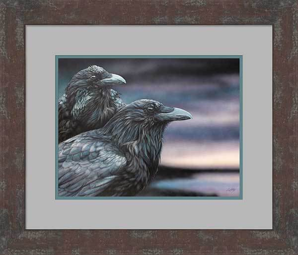 <I>Thought And Memory&mdash;ravens</i> Framed Limited Edition Print<Br/>20H X 23.5W Art Collection
