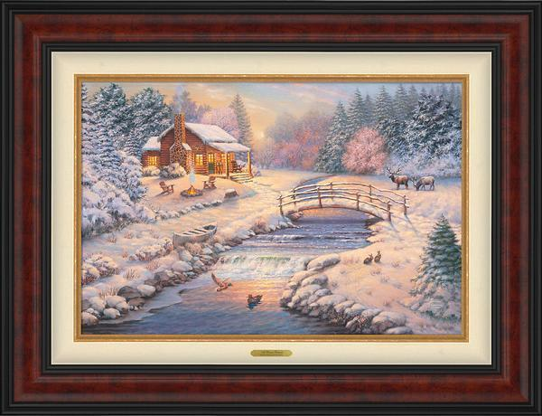 A Winter Retreat Framed Limited Edition Canvas (Sn)