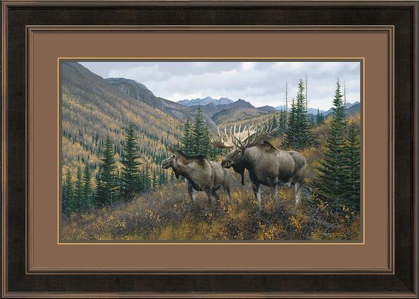 Working The Ridge&mdash;moose Framed Limited Edition Print<Br/>30H X 42W Art Collection