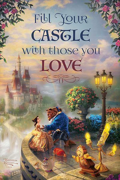 <I>Fill Your Castle With Those You Love</i> 12 X 18 Wood Sign
