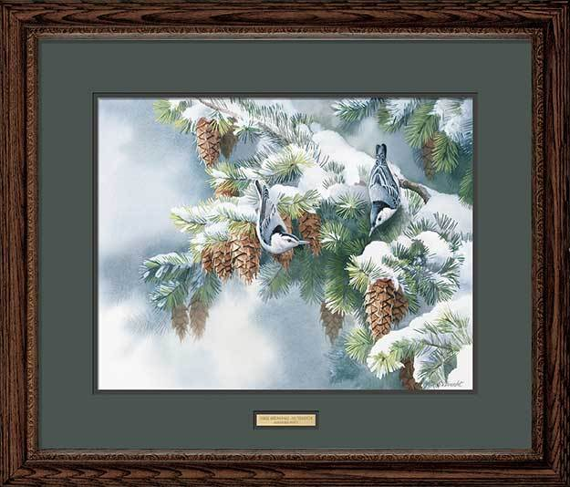 <i>First Snowfall&mdash;Nuthatch</i>
