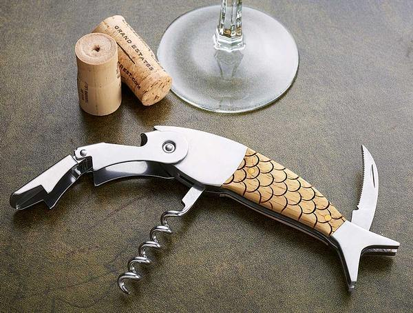 Fish Scales Corkscrew Bottle Opener
