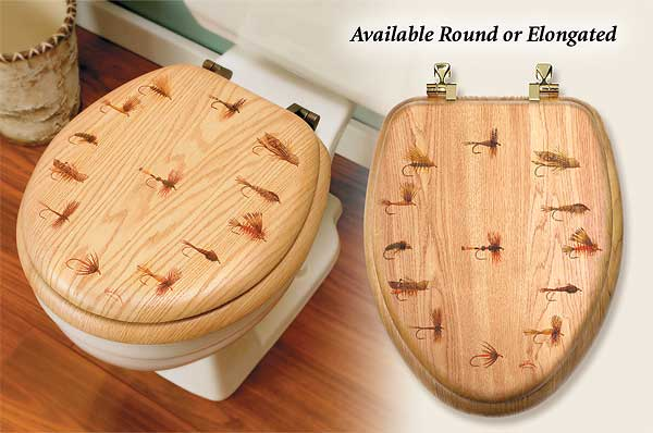 Fly Fishing Toilet Seat