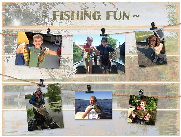 Fishing Fun Pallet Photo Holder