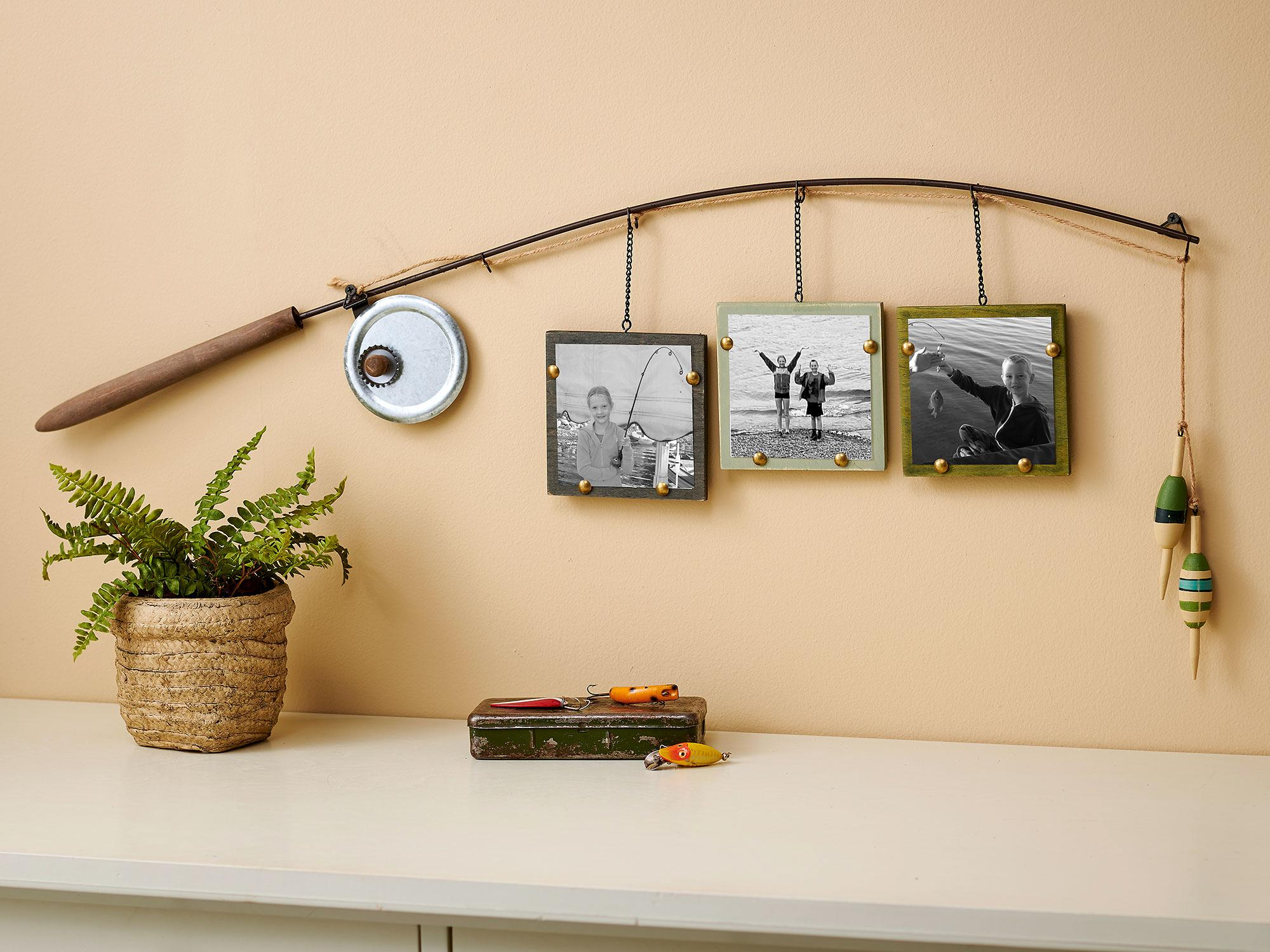 Fishing Pole Triple Photo Frame