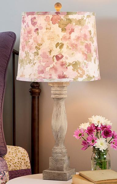 Country Rose Table Lamp