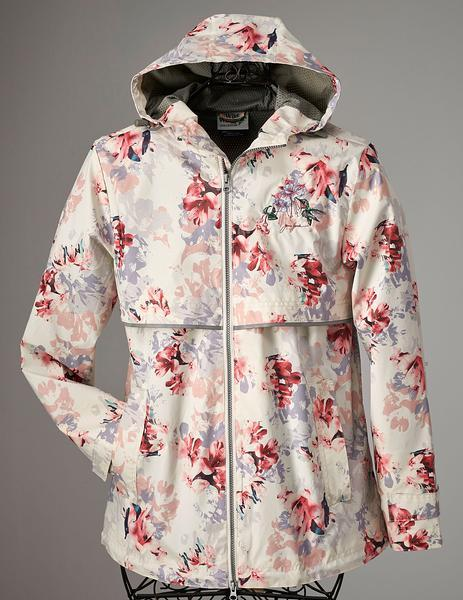 Hummingbird & Floral Hooded Raincoat