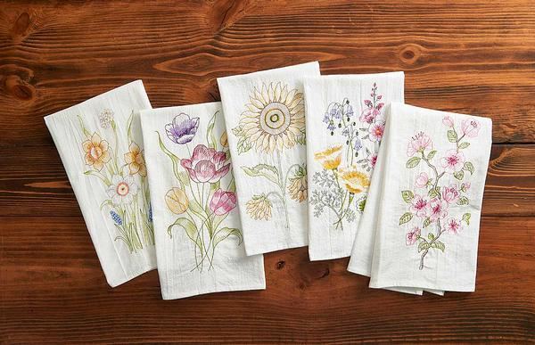 Spring Chic Floral Kitchen Towels