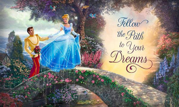 <I>Follow The Path To Your Dreams</i> 18 X 30 Wood Sign