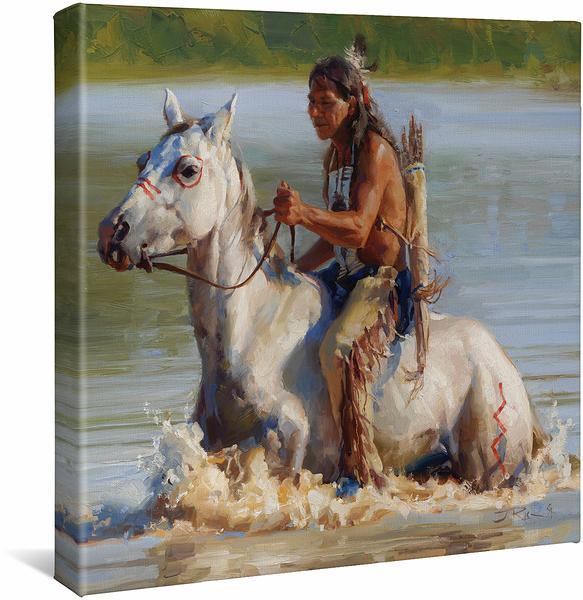 <I>Fording The Cheyenne</i> Gallery Wrapped Canvas