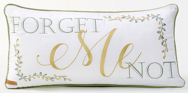 Forget Me Not Pillow
