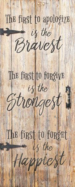 Forgiveness 12 X 30 Wood Sign