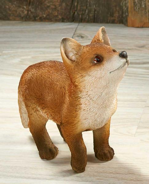 <I>Looking Up&mdash;fox Kit</i> Sculpture