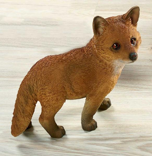 <I>Standing&mdash;fox Kit</i> Sculpture