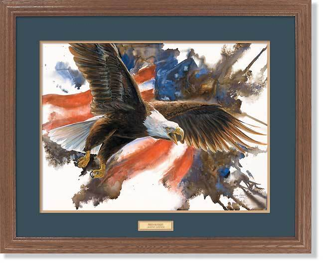 <I>Freedom Flight&mdash;bald Eagle</i> Gna Premium Framed Print<Br/>25H X 31W Art Collection