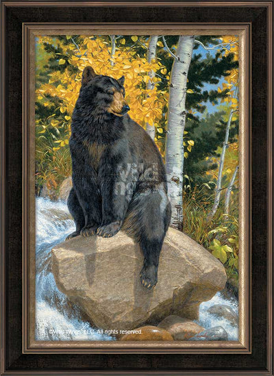 Paws that Refreshes-Black Bear Art Collection