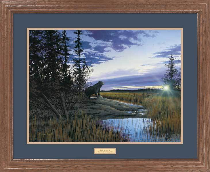 <I>The Search&mdash;black Bear</i> Gna Premium Framed Print<Br/>25H X 31W Art Collection