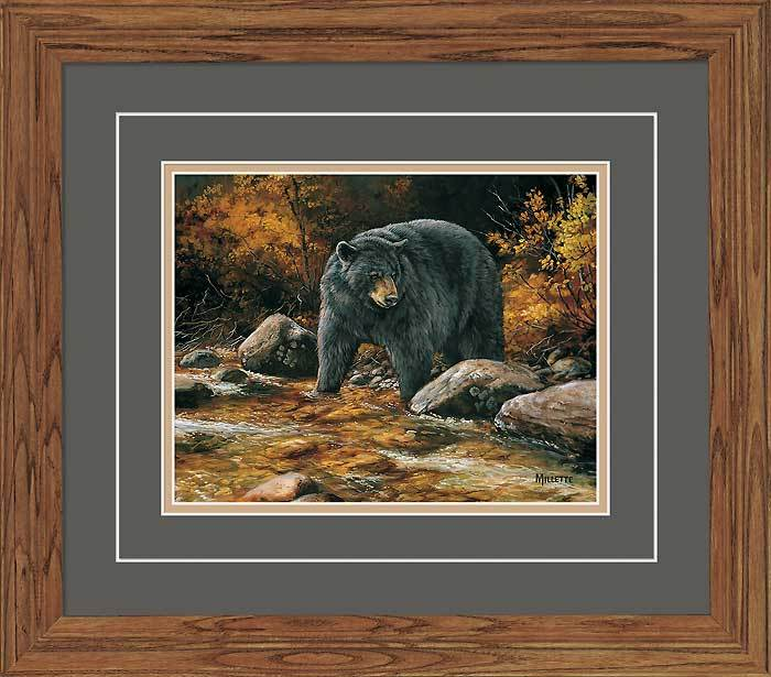 Streamside—bear Gna Deluxe Framed Print