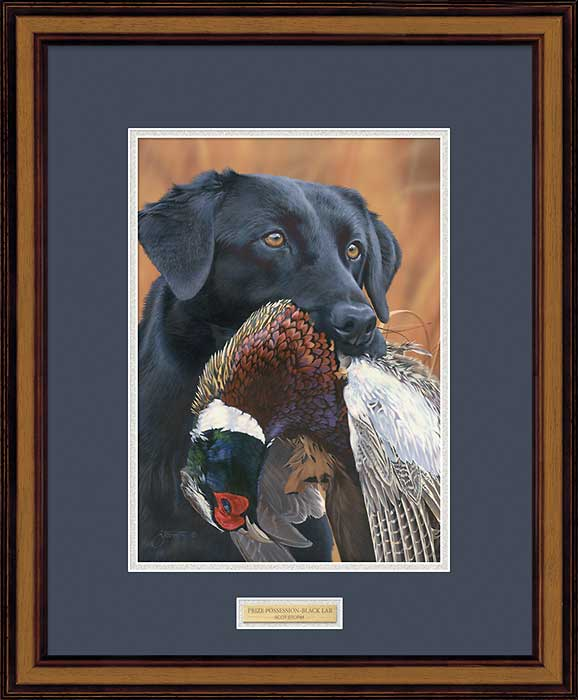 Prize Possession-Black Lab Art Collection
