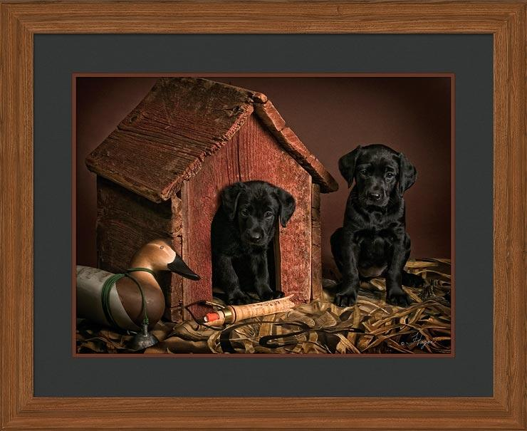 Call What Call—black Lab Pups Gna Premium Framed Print