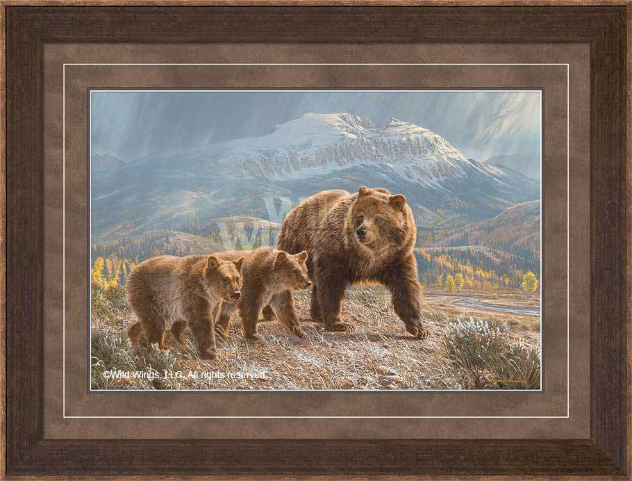<I>Under The Sleeping Giant&mdash;bears</i> Framed Limited Edition Print<Br/>27H X 35.5W Art