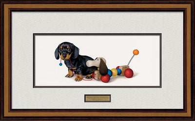 Walking the Dog—Dachshund.