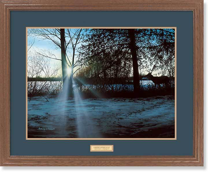 <I>Winters Evening Scout&mdash;deer</i> Gna Premium Framed Print<Br/>25H X 31W Art Collection