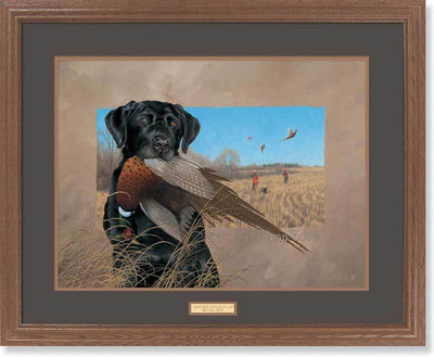 <I>Great Bird Dogs&mdash;black Lab</i> Gna Premium Framed Print<Br/>25H X 31W Art Collection