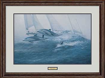 Bow Riders-Dolphins Art Collection
