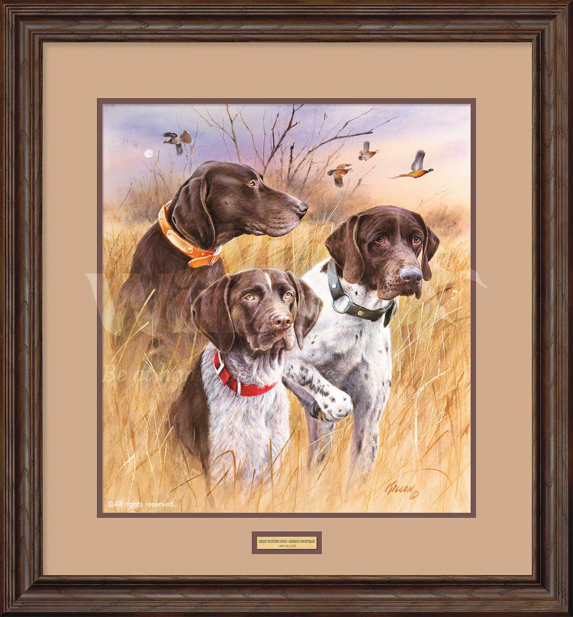 Great Hunting Dogs-German Shorthair Pointers Art Collection