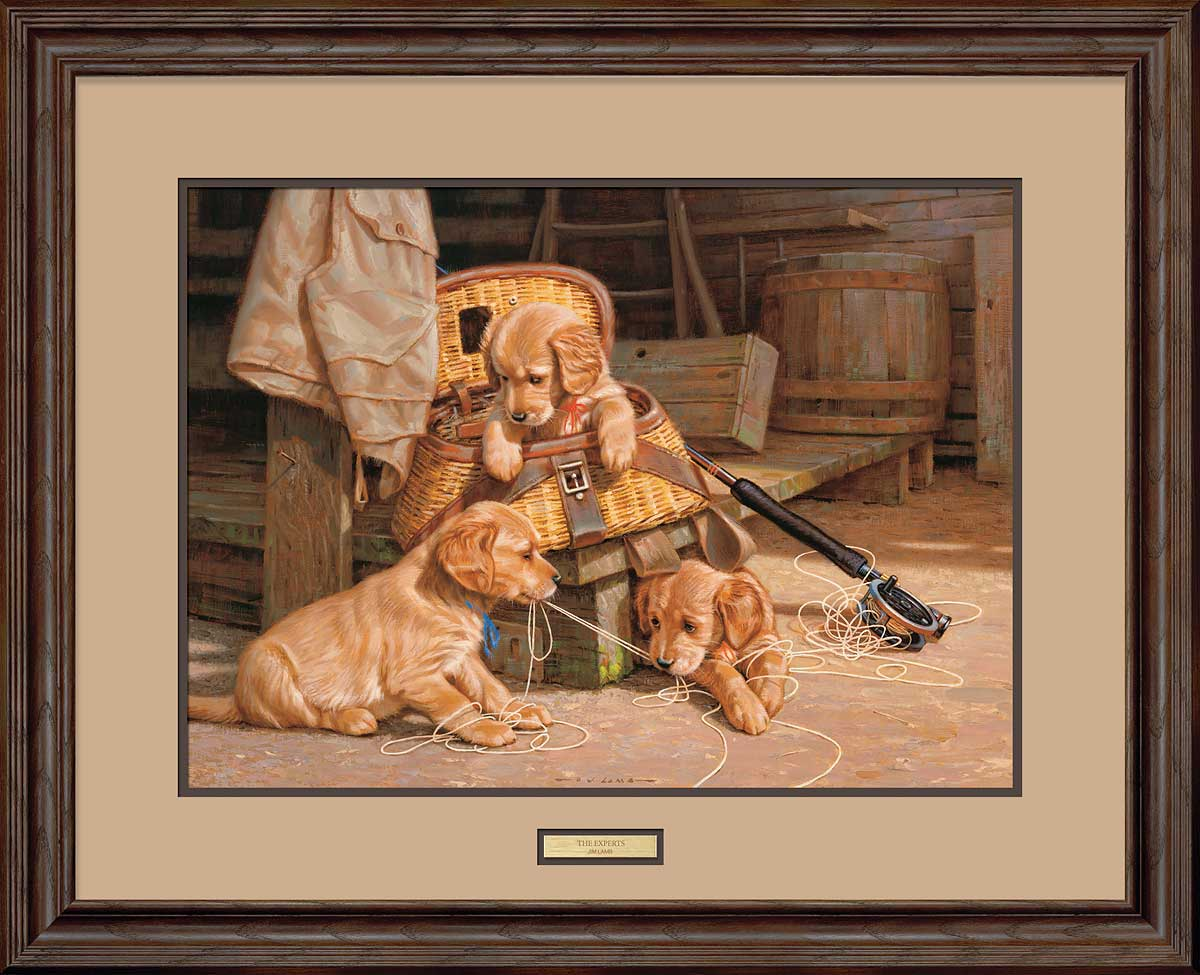 The Experts-Golden Retrievers Art Collection