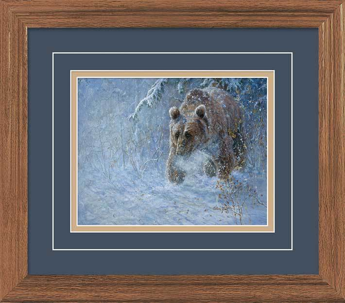 Trail Of The Grizzly Gna Deluxe Framed Print
