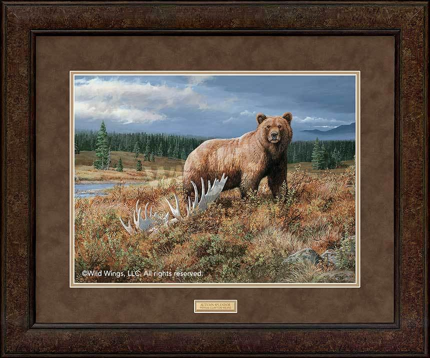 <I>Autumn Splendor&mdash;grizzly</i> Gna Premium+ Framed Print<Br/>29H X 35W Art Collection