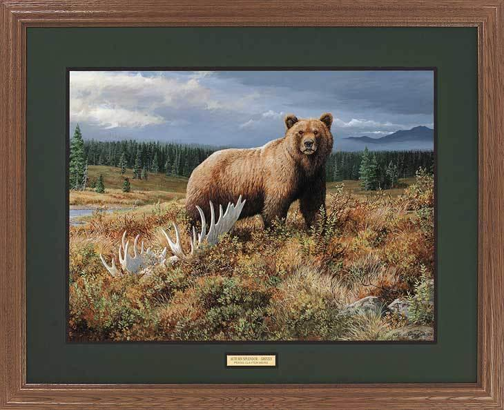 <I>Autumn Splendor&mdash;grizzly</i> Gna Premium Framed Print<Br/>25H X 31W Art Collection