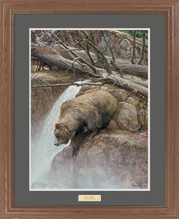 <I>Goin Fishin&mdash;bear</i> Gna Premium Framed Print<Br/>31H X 25W Art Collection