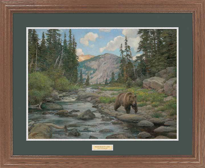 <I>Near Beauty Lake&mdash;grizzly Bear</i> Gna Premium Framed Print<Br/>27H X 33W Art Collection