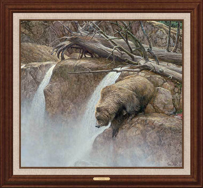 <I>Goin Fishin&mdash;bear</i> Framed Limited Edition Canvas<Br/>38.5H X 41.5W Art Collection