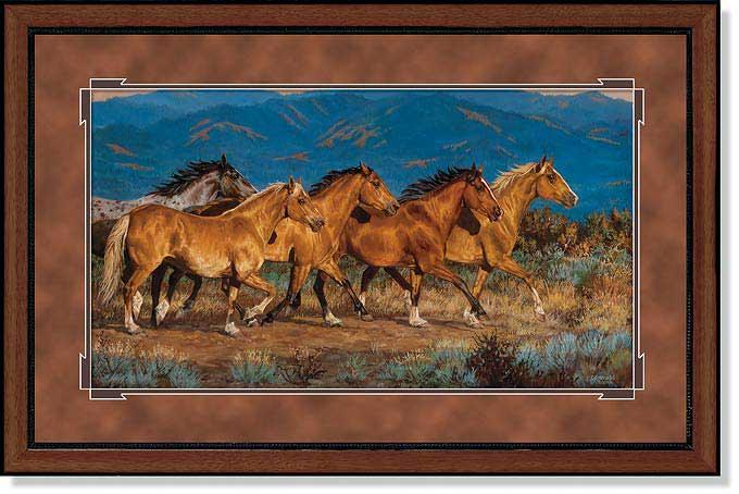 Band of Gold-Horses Art Collection