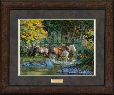 <I>Bear Creek Crossing&mdash;horses</i> Gna Premium+ Framed Print<Br/>29H X 35W Art Collection