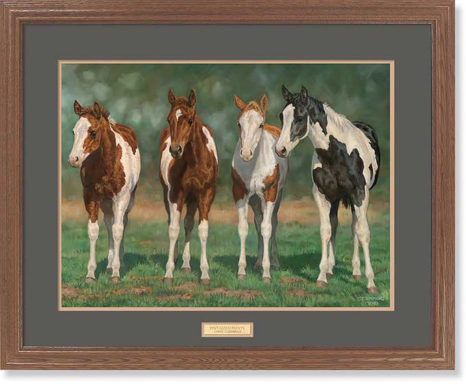 Pint-sized Paints-Horses Art Collection