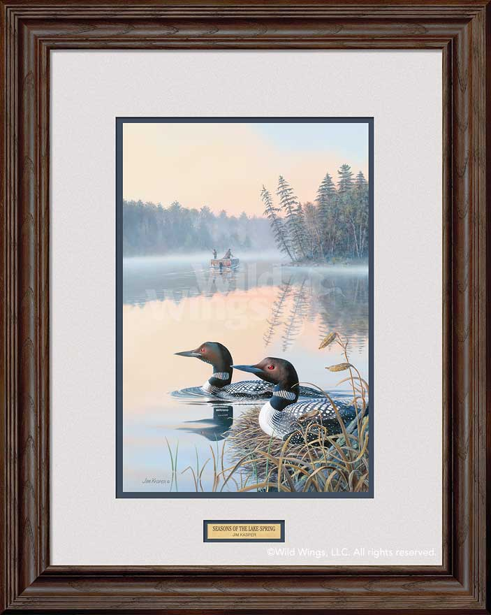 Seasons of the Lake; Spring-Loons Art Collection