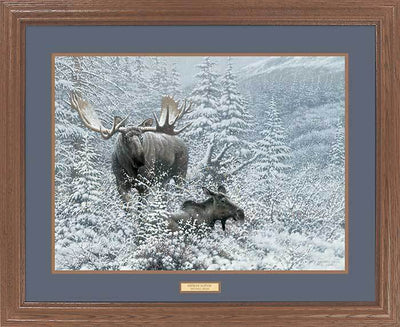<I>Patient Suitor&mdash;moose</i> Gna Premium Framed Print<Br/>25H X 31W Art Collection